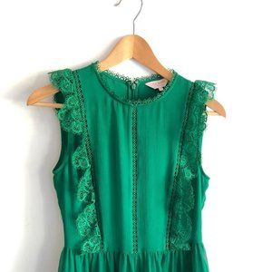 TED BAKER Omarri Lace Sleeveless Top Green Size 1